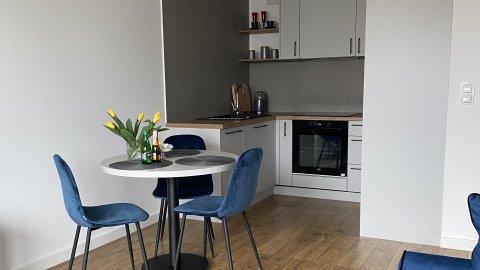 Apartament Wiczlino | z łazienką, w pełni wyposażoną kuchnią i ogródkiem