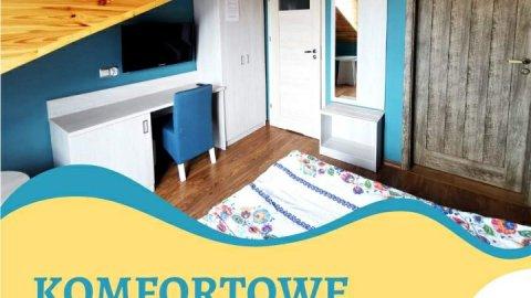 Willa Serce Kaszub - pokoje z łazienkami balkonem i widokiem na Zatokę. Parking