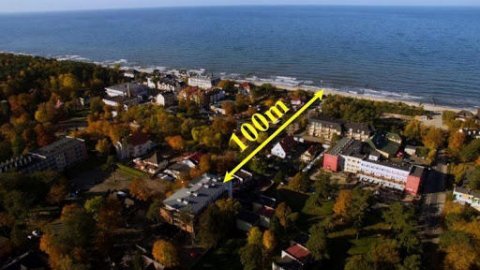 Luksusowy studio 3 osobowe 100m od morza.