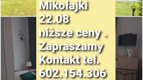 Pokoje gościnne w Mikołajkach.